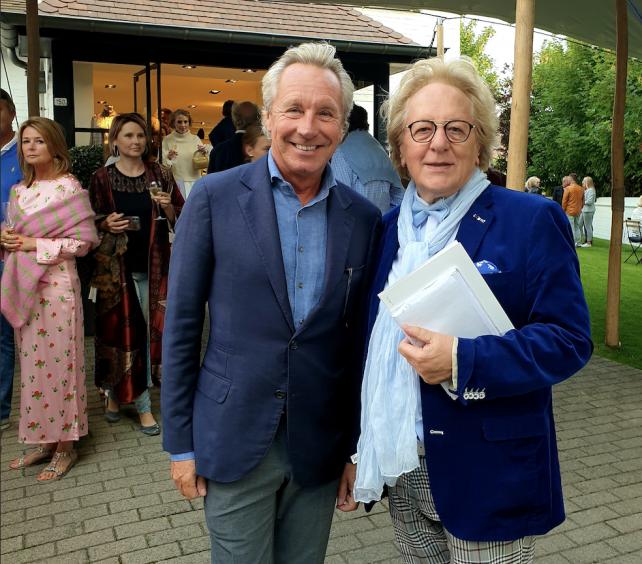 Couturier Edouard baron Vermeulen en prof. dr. Anton van der Geld