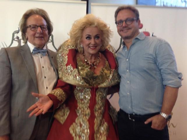 Bourgondisch 's-Hertogenbosch: prof. Anton van der Geld met Karin Bloemen en Guus Meeuwis