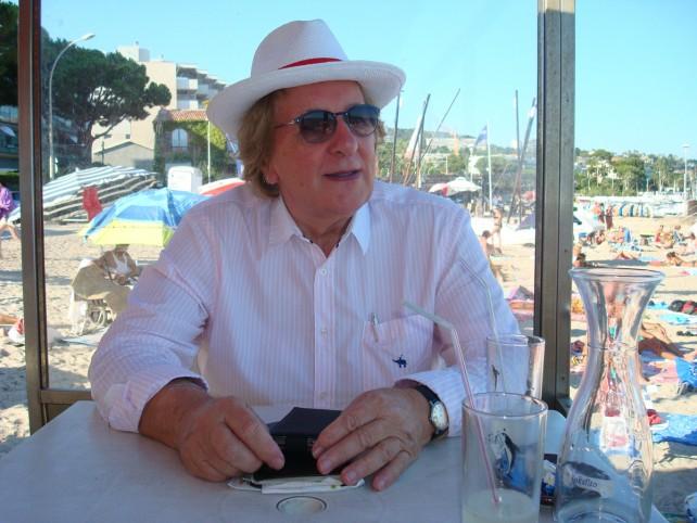 Anton van der Geld tijdens zijn schrijversverblijf in Zuid-Frankrijk
